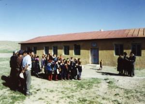 念願の分校開校式